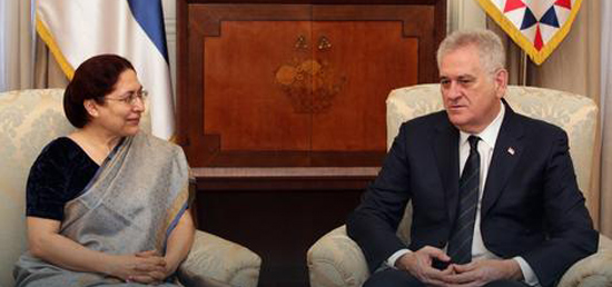 Meeting of Ambassador with H.E. President of Serbia Mr Tomislav Nikolic
