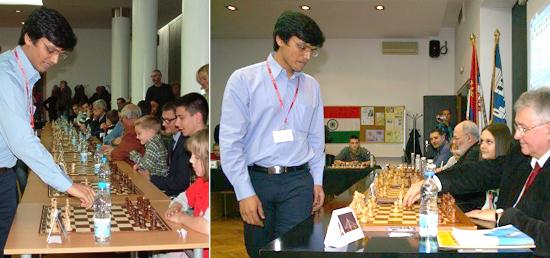 Simultaneous chess exhibition by Grandmaster Harikrishna Pentala