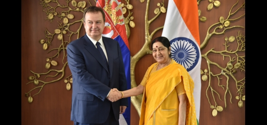 External Affairs Minister meets Ivica Dacic, Minister of Foreign Affairs of Serbia in New Delhi (May 03, 2018)