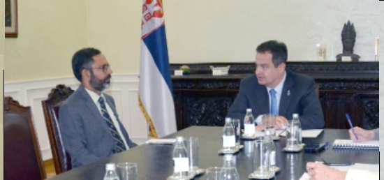 Foreign Minister Dacic meets with new Indian Ambassador to Serbia