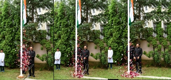 Flag hoisting ceremony on India´s Independence Day, 15th August 2018