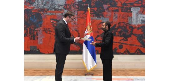 Ambassador has just presented his credentials